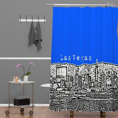 Deny Designs Bird Ave Las Vegas Single Shower Curtain Colorful