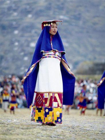 Photographic Print: Woman in Costume for Inti Raimi Festival of the Incas, Cusco, Peru by Jim Zuckerman :