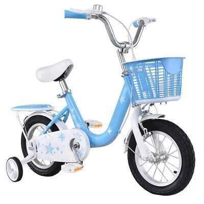 Sponsored Ebay 12 Kids Bike Bicycle With Training Wheels And Basket Blue With Images Kids Bike Bike With Training Wheels Bicycle Bike
