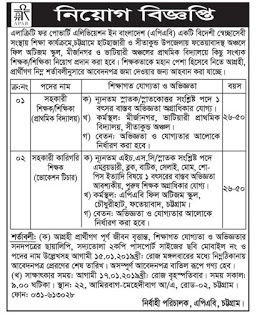 Alacrity for Poverty Alleviation in Bangladesh (APAB) Teacher Job