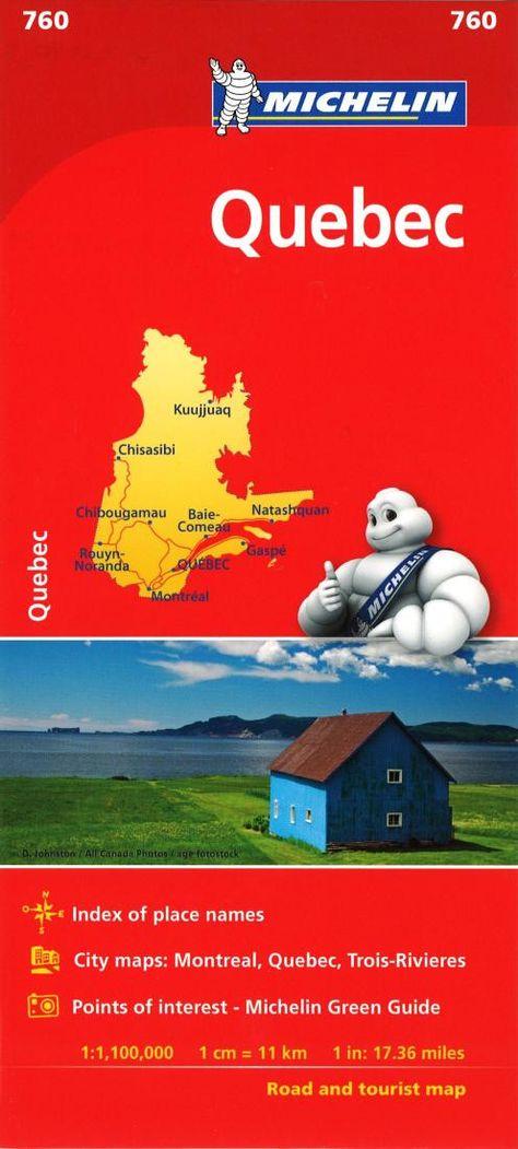 telecharger carte michelin gratuit Quebec (760) by Michelin Maps and Guides | Carte michelin, Carte