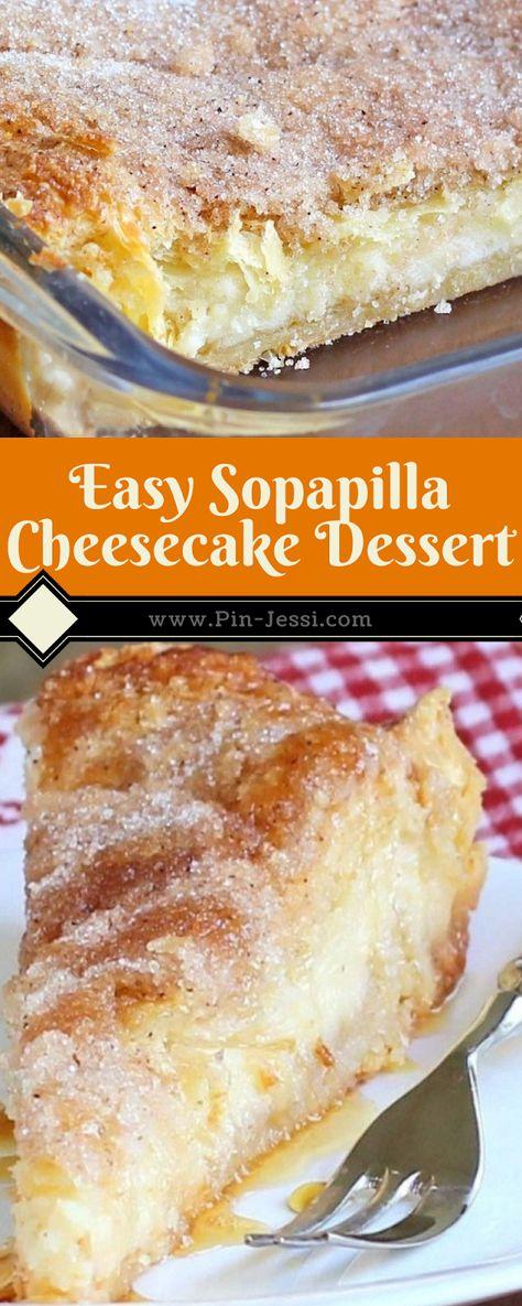 Easy Sopapilla Cheesecake Dessert Recipe - Pin-Jessi y Postres Oreo Dessert, Dessert Dips, Coconut Dessert, Quick Dessert Recipes, Bon Dessert, Quick Easy Desserts, Brownie Desserts, Cheesecake Desserts, Mini Desserts