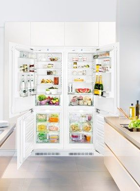 Sbs 66i2 Premium Nofrost Built In Side By Side Combination From Liebherr Built In Fridge Freezer Integrated Fridge Fridge Freezers