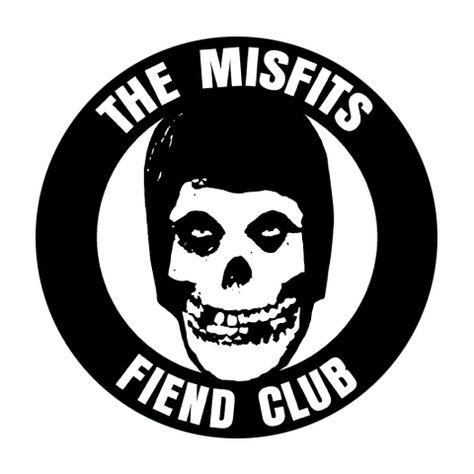 Sticker // Decal Misfits Fiend Club Round Fiend Club Logo C/&D Visionary The Misfits