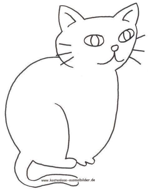 Malvorlage Katze Umriss 1ausmalbilder Ausmalbilder Ausmalen