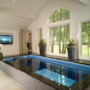 17 Ridiculously Amazing Modern Indoor Pools Futurian Small Indoor Pool Indoor Pool House Indoor Swimming Pool Design