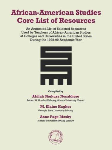 African-American Studies Core List of Resources - Default