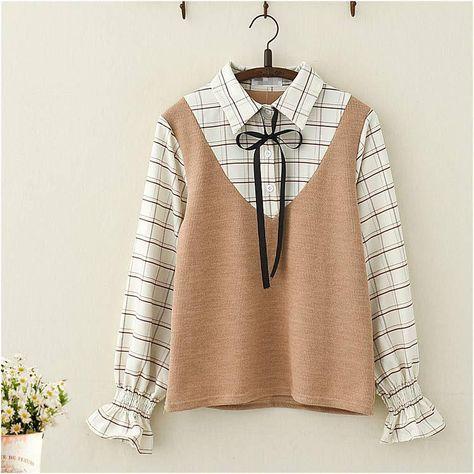 Kawaii Korean Style Long Sleeve Shirt Top