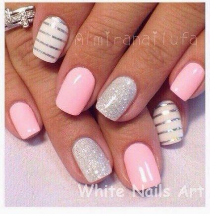 Trendy Nails Summer Acrylic Sparkle 58 Ideas Pink Nails Nails