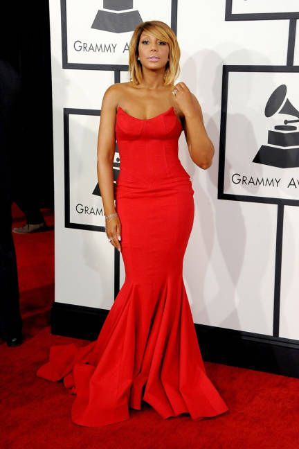 Tamar Braxton at the 2014 Grammys