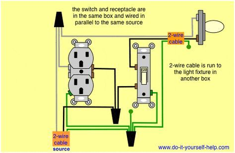 Light Switch And Outlet In Same Box Light Switch Wiring Light Switch Diy Electrical