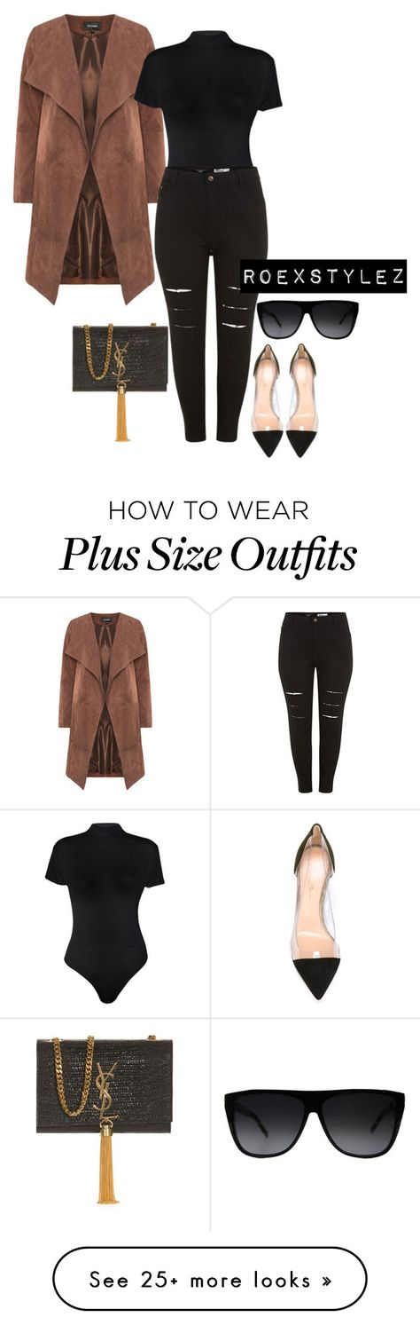 """""""+"""" by style-ish on Polyvore featuring WearAll, Gianvito Rossi and Yves Saint Laurent"""