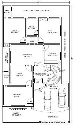 Image Result For 10 Marla House Plans 10 Marla House Plan Indian House Plans House Plans