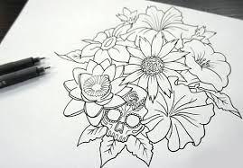 Resultado De Imagen Para Tatuajes De Flores Dibujos Ramos De Flores Tatuajes