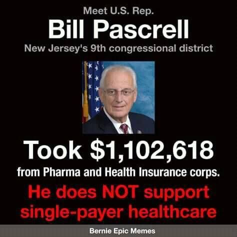 Bill Pascrell Supportive Medicare Health Care