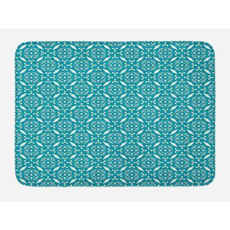 """Persian Floral Bath Mat Bathroom Decor Plush Non-Slip Mat 29.5/"""" X 17.5/"""""""