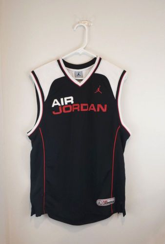 competitive price 838b5 7d518 Nike Air Jordan Jersey Tank top shirt M Black White Red Men ...