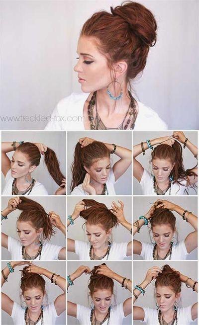 20 Stunningly Easy Diy Messy Buns Messy Hairstyles Cute Bun Hairstyles Easy Messy Bun