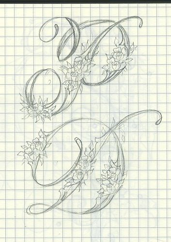 Flourishes on letters #handwritten #art #typeface #lettering #font #intricate #flowers