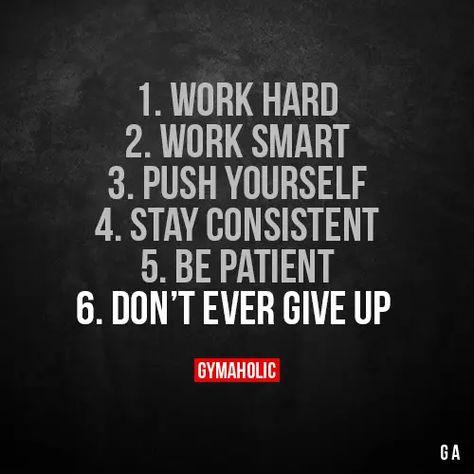 1. Work hard.