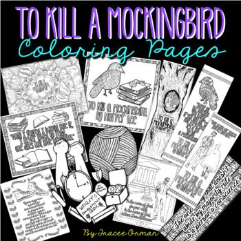 To Kill A Mockingbird Coloring Pages Bookmarks Coloring Pages