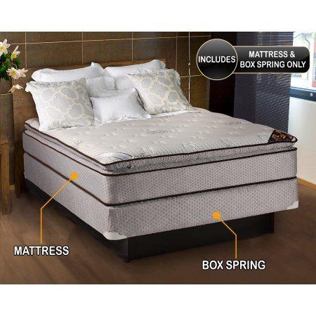 Spinal Comfort Pillowtop Full Size Mattress Box Spring Set