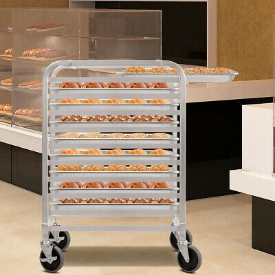 Ad Ebay Url Bakery Rack Commercial Cookie Bun Pan 10 Sheet Aluminum Rolling Compact Storage Bakery Baking Storage Aluminium Kitchen