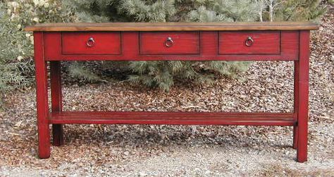 Red Console Table distressed red console table distressed mirrored console table