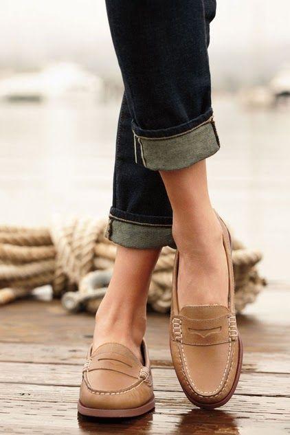 moccasins + jeans