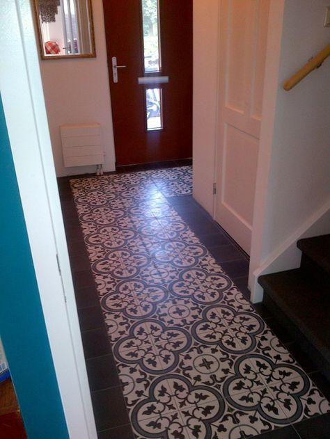 Mooie vloer voor in de hal bij voordeur