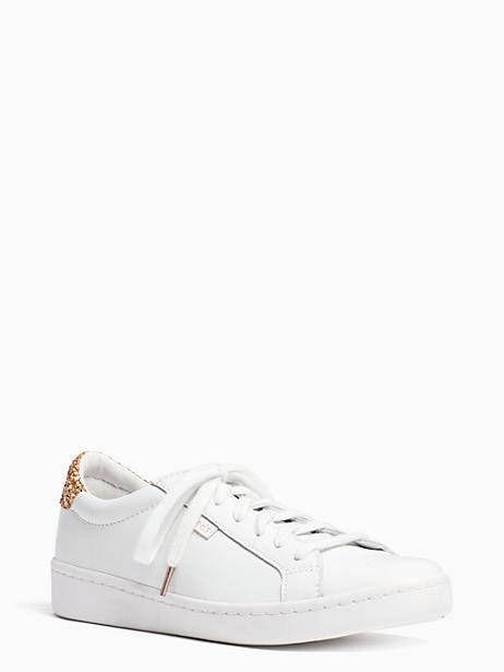 be69f05a56e7 KATE SPADE KEDS X KATE SPADE NEW YORK LEATHER AND GLITTER SNEAKERS.  #katespade #shoes # | Kate Spade | Sneakers, Kate spade keds, Clearance  shoes