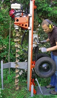 Gartenbrunnen Bohren Motorbetriebenes Brunnenbohr Geraet