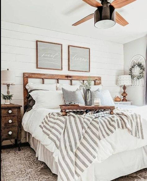 bedroom design 52 Magnificient Farmhouse Master Bedroom Ideas On A Budget - An open family room and Budget Bedroom, Home Decor Bedroom, Bedroom Furniture, Kids Bedroom, Dark Furniture, Bedroom Black, Bedroom Brown, Fall Bedroom, Bedroom Neutral