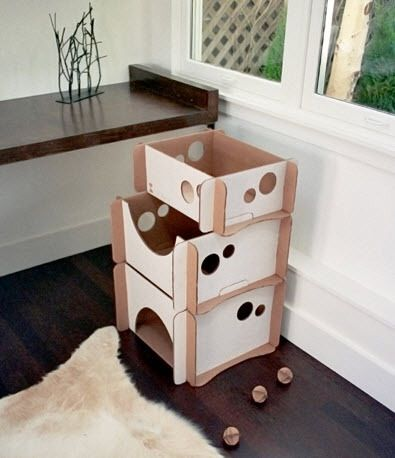 Click Here to View All Photos We have a very small dog (kitten-sized actually) who does like to snuggle up somewhere cozy and enclosed now and then. So, even though we are not experienced in the ways of felines, we can see how this would be very appealing to a pet and it doesn't look bad (unlike LOTS of cat condos out there). The price...