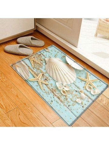 Shell Starfish Deck Pattern Indoor Outdoor Area Rug Extra Large Bathroom Rugs Large Bathroom Rugs Floor Area Rugs