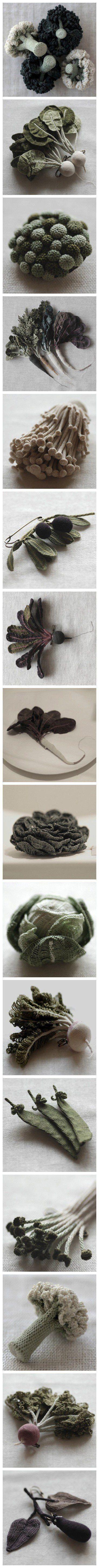 amazing crochet vegetables!