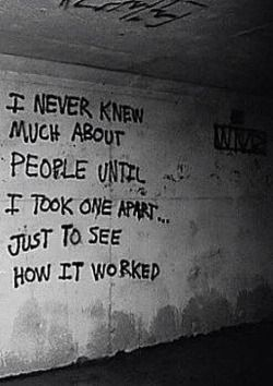I do NOT wanna meet the person who wrote that on the wall....