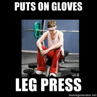 Image result for gloves meme gym