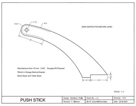 Table Saw Push Stick Google Search Woodworking Pinterest And Searching