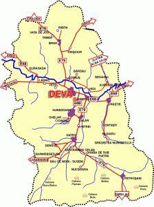 Harta Rutiera A Judetului Hunedoara