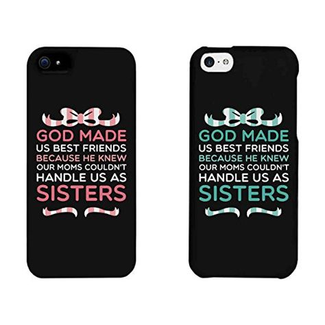 Cute BFF Phone Cases - God Made Us Best Friends Phone Covers for iPhone 4 5 se,iPhone 6 plus,Samsung Galaxy Back Case Skin