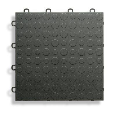 Blocktile 12 X 12 Garage Flooring Tile In Black Garage Floor Tiles Flooring Rubber Garage Flooring