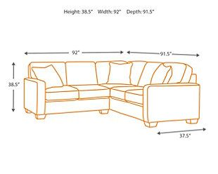 Alenya 2 Piece Sectional With Images 3 Piece Sectional Sectional Script Pillows