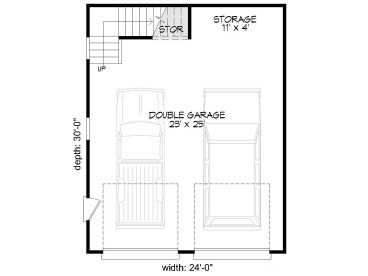 1st Floor Plan 062g 0127 Garage Workshop Plans Garage Plans Detached Garage Plans With Loft
