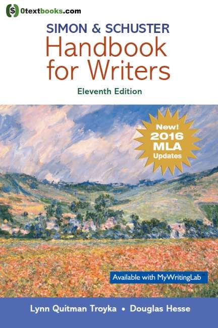 Simon Schuster Handbook For Writer Mla Update 11th Edition Pdf Textbook Quitman Of Research Paper 6th Download