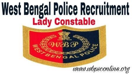 WB Police Recruitment 2018, Apply Online For 2550 Lady Constable