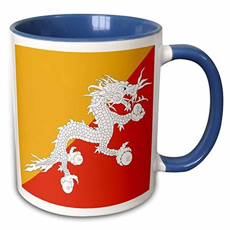 3drose Inspirationzstore Flags Flag Of Bhutan Druk Bhutanese Thunder Dragon On Orange And Gold Yellow Asia Asian World 11oz Tw Thunder Dragon Mugs Bhutan