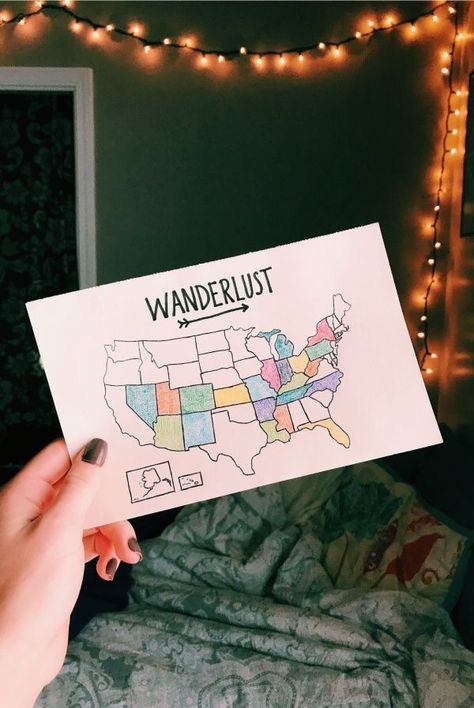 Draw in map of the United States