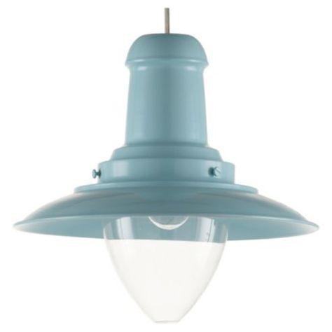 Buy Tesco Lighting Fisherman's Spun Metal Pendant Light, Duck Egg Blue from our Pendants range - Tesco.com