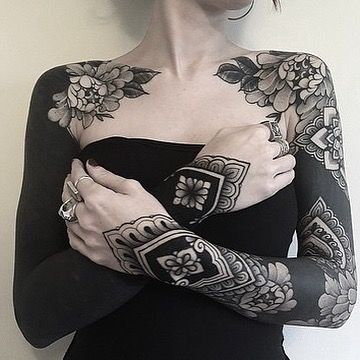 What S Your Favorite Tattoo 1 6 By Jackpeppiette Scotland Edinburgh Blxckink Scotland B In 2020 Solid Black Tattoo Black Sleeve Tattoo Blackout Tattoo